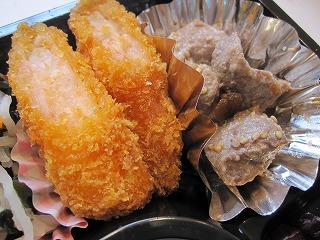 サイコロステーキ&海老カツ